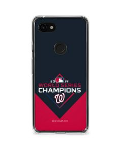 Washington Nationals 2019 World Series Champions Google Pixel 3a Clear Case