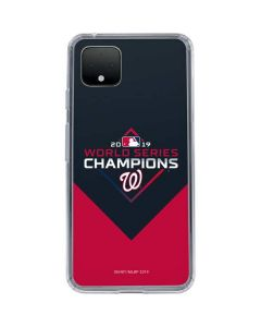 Washington Nationals 2019 World Series Champions Google Pixel 4 XL Clear Case