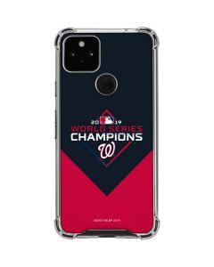 Washington Nationals 2019 World Series Champions Google Pixel 4a 5G Clear Case