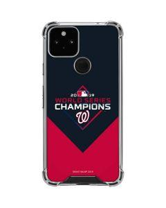 Washington Nationals 2019 World Series Champions Google Pixel 5 Clear Case