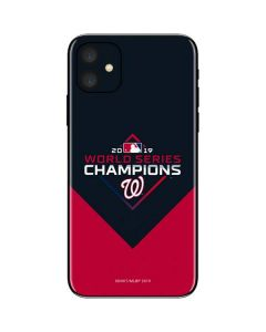 Washington Nationals 2019 World Series Champions iPhone 11 Skin