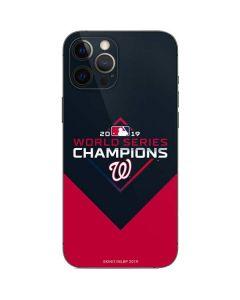 Washington Nationals 2019 World Series Champions iPhone 12 Pro Skin