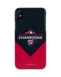Washington Nationals 2019 World Series Champions iPhone XS Max Lite Case
