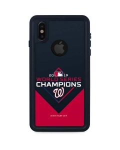 Washington Nationals 2019 World Series Champions iPhone XS Waterproof Case