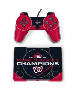 Washington Nationals 2019 World Series Champions PlayStation Classic Bundle Skin