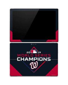 Washington Nationals 2019 World Series Champions Surface Pro 4 Skin