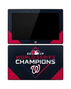 Washington Nationals 2019 World Series Champions Surface RT Skin