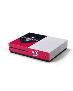 Washington Nationals 2019 World Series Champions Xbox One S Console Skin