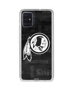 Washington Redskins Black & White Galaxy A51 Clear Case