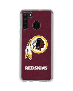 Washington Redskins Distressed Galaxy A21 Clear Case