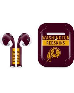 Washington Redskins Maroon Performance Series Apple AirPods 2 Skin