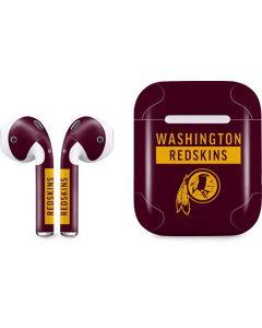 Washington Redskins Maroon Performance Series Apple AirPods Skin