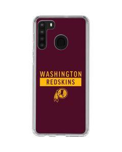 Washington Redskins Maroon Performance Series Galaxy A21 Clear Case