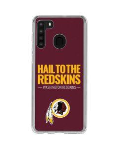 Washington Redskins Team Motto Galaxy A21 Clear Case