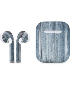 Weathered Blue Wood Apple AirPods Skin