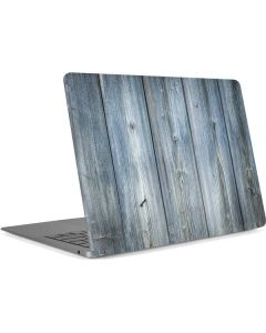 Weathered Blue Wood Apple MacBook Air Skin