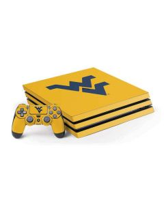 West Virginia Yellow Background PS4 Pro Bundle Skin