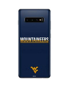 West Virginia Blue Wood Floor Galaxy S10 Plus Skin