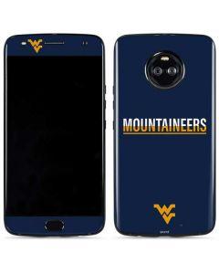West Virginia Blue Wood Floor Moto X4 Skin