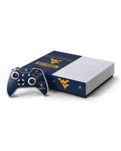 West Virginia Mountaineers Logo Xbox One S Console and Controller Bundle Skin