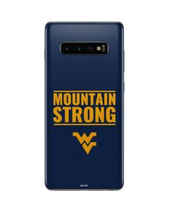 West Virginia University Yellow Galaxy S10 Plus Skin