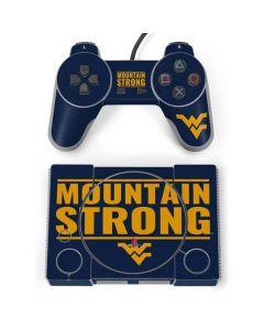 West Virginia University Yellow PlayStation Classic Bundle Skin