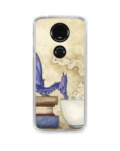 Whats in Here Coffee Dragon Moto E5 Plus Clear Case