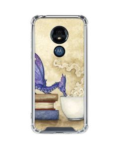 Whats in Here Coffee Dragon Moto G7 Power Clear Case