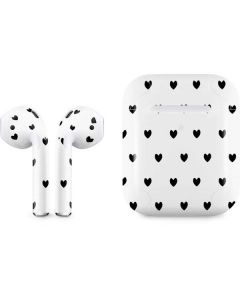 White and Black Hearts Apple AirPods 2 Skin