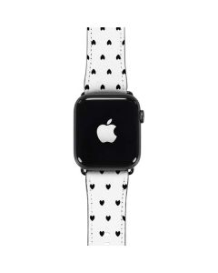 White and Black Hearts Apple Watch Band 42-44mm