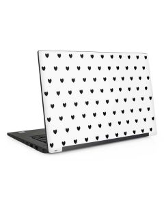White and Black Hearts Dell Latitude Skin