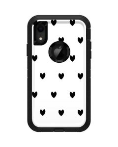 White and Black Hearts Otterbox Defender iPhone Skin