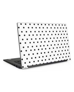 White and Black Polka Dots Dell Latitude Skin