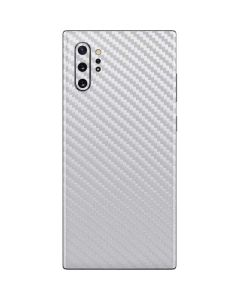 White Carbon Fiber Galaxy Note 10 Plus Skin