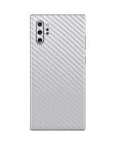 White Carbon Fiber Galaxy Note 10 Plus Skin