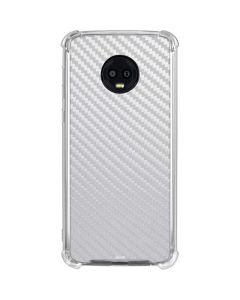 White Carbon Fiber Moto G6 Clear Case