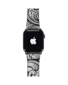 White Flourish Apple Watch Case
