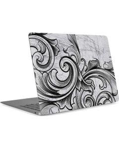 White Flourish Apple MacBook Air Skin