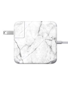 White Marble 85W Power Adapter (15 and 17 inch MacBook Pro Charger) Skin