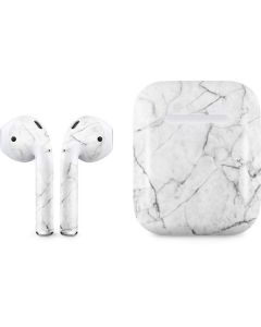 White Marble Apple AirPods 2 Skin