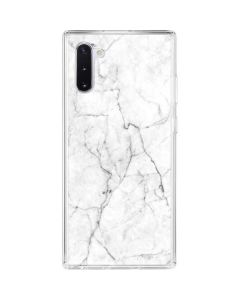 White Marble Galaxy Note 10 Clear Case