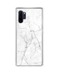 White Marble Galaxy Note 10 Plus Clear Case