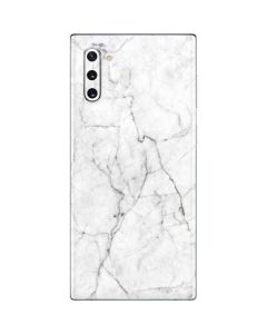 White Marble Galaxy Note 10 Skin