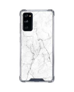 White Marble Galaxy S20 FE Clear Case