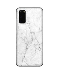 White Marble Galaxy S20 Skin