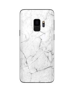 White Marble Galaxy S9 Skin