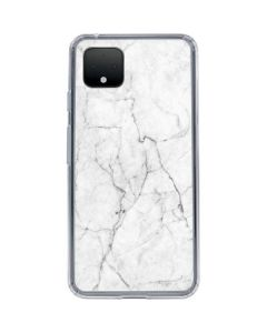 White Marble Google Pixel 4 Clear Case