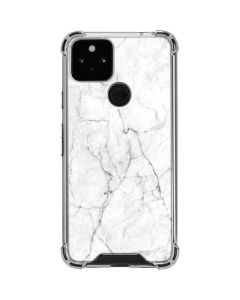White Marble Google Pixel 5 Clear Case