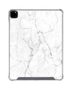 White Marble iPad Pro 12.9in (2020) Clear Case