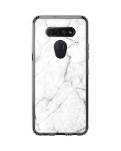 White Marble LG K51/Q51 Clear Case